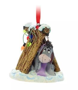 Y1 BNWT Shop Disney Store 2021 Sketchbook EEYORE Christmas Decoration Ornament