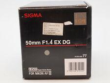 Sigma 50mm f/1.4 EX DG HSM Lens for Nikon F