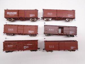 Rail Line HOn3 Freight cars(6), Rio Grande Southern, RGS, lot B