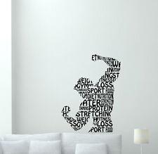 Fitness Wall Decal Words Cloud Man Gym Vinyl Sticker Decor Workout Poster 155hor