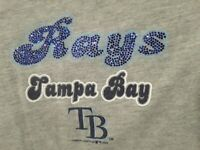 MLB Genuine Merchandise Campus Lifestyle Tampa Bay Rays Women Gray T-Shirt Small