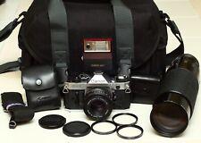 Canon AE-1 Program 35mm Film Camera with 2 Lenses & Flash - CLA'd!!!