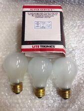 75A19/FR 75 Watt A19 20,000 Hour   Rough Service LongLife FROST Light Bulb 3-pc