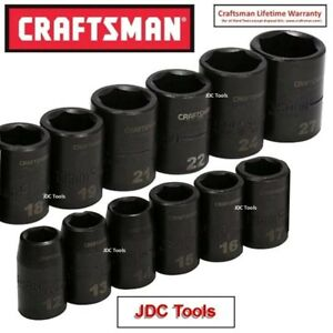 CRAFTSMAN TOOLS 12 pc 1/2 Drive Metric Impact Socket Set MM