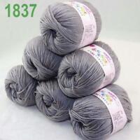 Sale lot 6 Skeins x50g Cashmere Silk Wool Children Hand Knitting Crochet Yarn 37