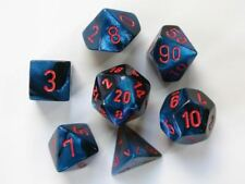 Chessex Gemini Polydice Set - Black-Starlight/red