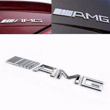 AMG Badge Emblem Sticker Chrome Silver Mercedes Benz Boot Door