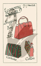 Reproduction Vintage Economy Design Shopping Bags Sewing Pattern ED125