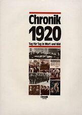 Chroniken und Jahrbücher der 1920er