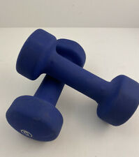 Neoprene Dumbbell 10 Pound Set (Two 5 lbs Dumbbells) Navy Weights