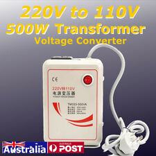 AU 500W 220V to 110V Voltage Transformer Converter Step Down 50/60Hz Iron Device