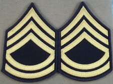 CANADIAN ARMED FORCES CORPORAL RANK INSIGNIA  GOLD ON BLUE #4939
