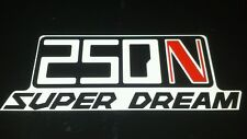 Honda Superdream 250n Pair of SidePanel Decals Red N  Stickers
