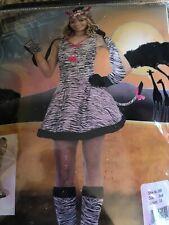 Wild Thing Zebra Halloween Costune Juniors Small Size 3-5