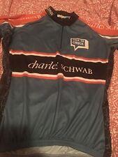 CHARLES SCHWAB 1/4 Zip Cycling Bike Jersey, Women's Sz S Vomax S/S VGC