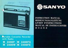 SANYO - M 2400F 2400FG 2400W 2400FE - Bedienungsanleitung Manual - B2913