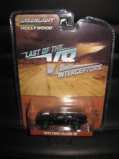 1/64 GREENLIGHT Mad Max V8 Interceptor 1972 Ford Falcon XB MOVIE CAR GREEN WHEEL