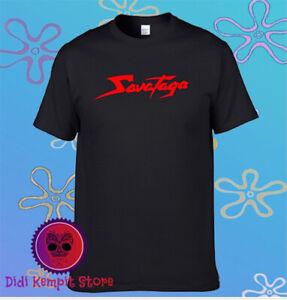 Savatage Famous Cool Red Logo Men's Black T-Shirt Size S to 3XL