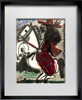 """Pablo PICASSO Lithograph LIMITED Edition """"12.3.59 II"""" w/ Cat. Ref. C112 + FRAME"""