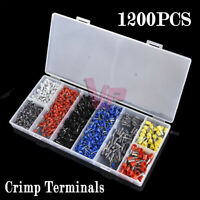 1200Pcs Assorted Electrical Wire Terminals Set Insulated Crimp Connector Kit