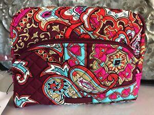 VERA BRADLEY~Iconic LARGE SIZE~ Zip Cosmetic Bag~REGAL PAISLEY~BNWT!