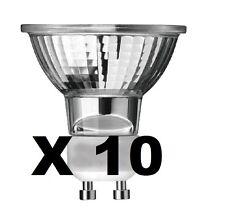 Pack of 10 GU10 75w Halogen Reflector Spotlight Lamp Spot Light Bulb Bulbs