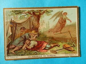 IMAGE PIEUSE HOLY CARD  JESUS LE SEMEUR   PARABOLE BONNE PRESSE