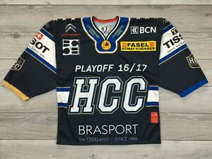 HCC La Chaux-de-Fonds Playoff 2016-17 Switzerland Ice Hockey Oshsner Jersey sz L