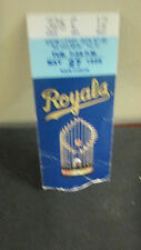 MLB- KANSAS CITY ROYALS STUB FROM MAY 27,1986 W. TROPHY FROM 85'