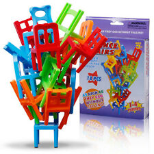 Balance Chairs Game Stacking Puzzle Toys Blocks kids Educational Desktop game#