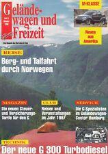 Mercedes G-modelo G-clase todoterreno ocio revista folleto 1996 49