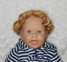Dollspart MOHAIR Doll Wig SZ 14~Golden Blonde~Braided Side Buns New #01073