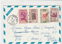 republique du dahomey 1963 men at various works stamps cover ref 21260