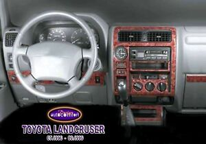 FOR TOYOTA LAND CRUISER Interior Dash Trim Kit 3M 3D 20-Parts Burl Wood 96-99