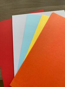 A4 Vivid Colour Cardstock for Cardmaking 20 sheets