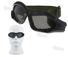 Tactical Military Camouflage Protection Metal Mesh Glasses Shooting Goggles