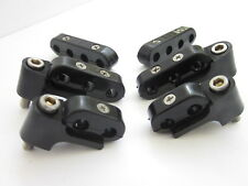 Black Hi Temp Ignition Lead Brackets Seperators Mounts Set Spark Plug Wires