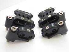 Black Hi Temp Ignition Lead Brackets Seperators Mounts Set Spark Plug Wires