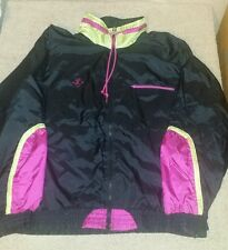 Women's Medium Jimmy Connors by Slazenger black wind suit pants jacket