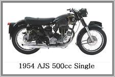 1954 AJS 500cc SINGLE - JUMBO FRIDGE MAGNET - VINTAGE CLASSIC MOTORCYCLE BIKE