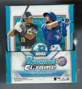 2021 Bowman Chrome Baseball Hobby Box Factory Sealed Hobby Box