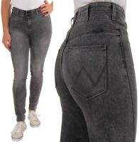 Wrangler Damen Jeanshose Body Bespoke High Skinny Starlight Dunkelgrau W25 - W32