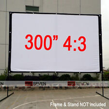 300 Inch 4:3 Portable Projection Screen Film for LED DLP 3D Projector Beam Movie