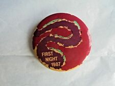 Cool Vintage 1987 First Night New Year's Eve Celebration Souvenir Pinback