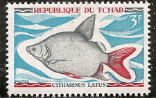 "Chad Stamp - Scott #219/A48 3fr Gray, Red & Black ""Fish"" OG Mint/LH 1969"