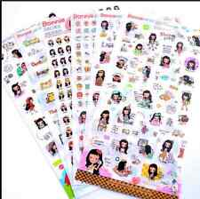 6sheet Bonnie Girl Diary calendar Filofax Schedule Notebook fashion Deco Sticker