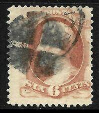 Sc #159 Jumbo Margin Fancy Cancel SON 6 Cent Lincoln 1875-79 Banknote US 12B73