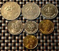 CROATIA - 2007 - Coin Set of 7 coins - Hrvatska kuna lipa