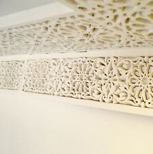 PACK of 4 Moroccan Plaster Dado's, SIZE: L93cm each, Decorative Gypsum Wall Tile