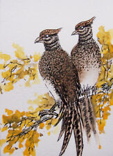 Oriental Art ACEO Original chinese Painting lovely birds